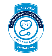 Accredited Chest Pain Center with PCI by the American College of Cardiology