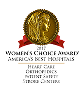 Women's Choice Award - America's Best Hospitals for Heart Care, Orthopedics, Patient Safety, and Stroke Centers