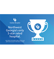 Northwest Georgia's only 5-star rated Hospital
