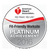 American Heart Association Fit-Friendly Worksites Platinum Award
