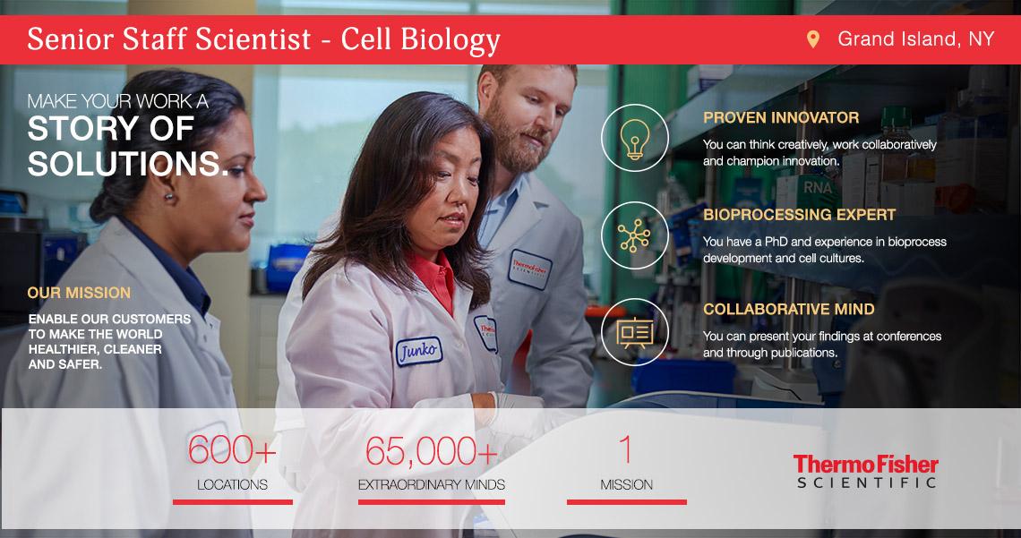 Senior Staff Scientist - Cell Biology