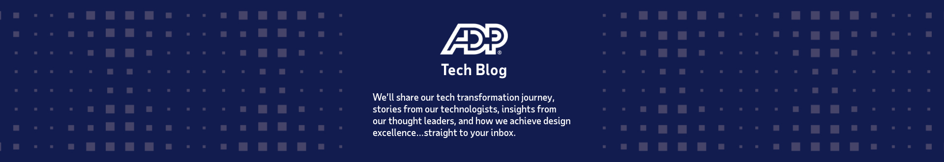 Tech Blog - We'll share our tech transformation journey, stories from our technologists, insights from our though leaders, and how we can achieve design excellence... straight to your inbox